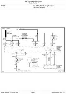 1999 ford taurus system wiring diagram cooling fan circuit schematic wiring diagrams solutions