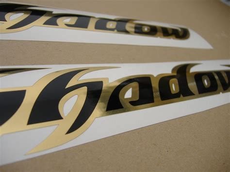 Honda Sticker Gold by Honda Shadow Tank Decals Set In Black Chrome Gold Moto