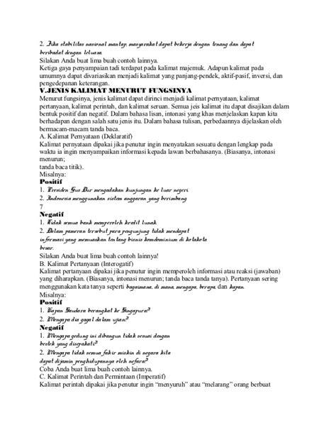Bangun Kalimat Bahasa Indonesia kalimat dalam bahasa indonesia
