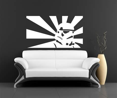 wall art stickers for bedroom wall art sticker transfer bedroom lounge storm trooper