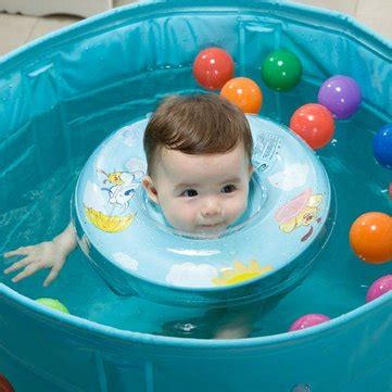 baby swimming neck float ring safety aid tube infant swim