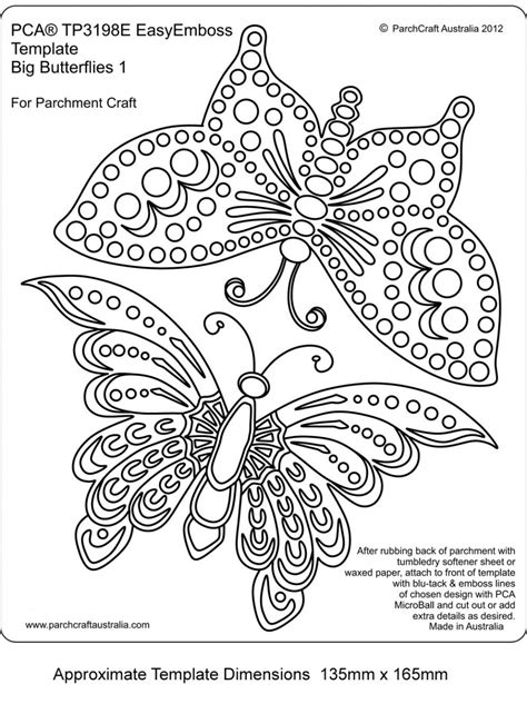 card emboss template embossing easy emboss big butterflies 1 parchcraft australia