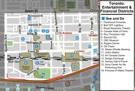 chicago financial district map toronto entertainment and financial districts travel