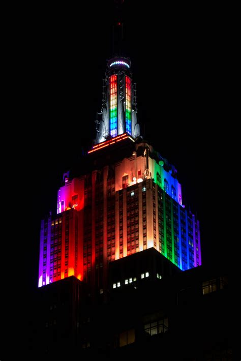 empire state color the empire state building lit up with rainbow colors in