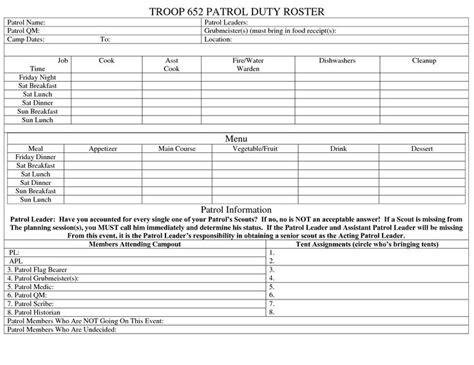 scout receipt template template for boy scout cing trips search