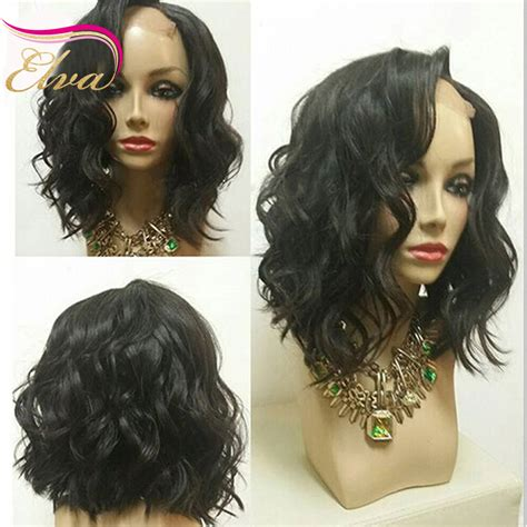 Wavy bob wigs glueless full lace human hair wigs short human hair lace front wigs for black