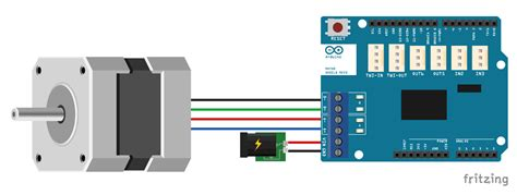 stepper  arduino motor shield rev tutorial  examples