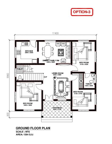 kerala model 3 bedroom house plans new home
