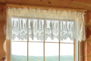 pinecone lace curtains pinecone lace curtain valance by heritage lace
