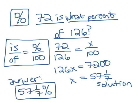 how to solve pattern in math how to solve percent problems using proportions including