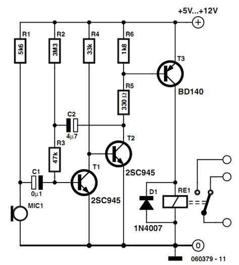 voice activated light switch sound activated light schematic diagram get free image