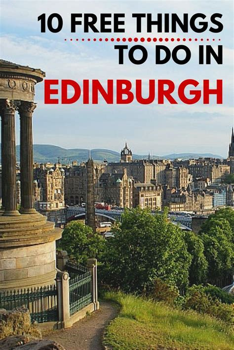 Fab Things For The Budget Conscious by 10 Free Things To Do In Edinburgh Free Things