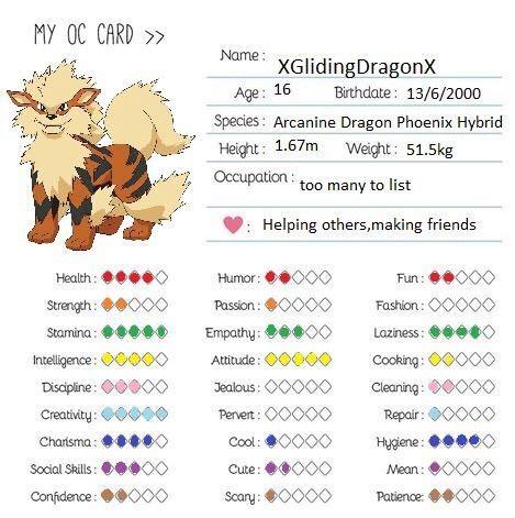 my oc card template my oc card amino
