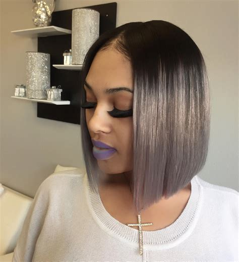 bobbed hairstyles for black women with weave gorgeous bob by thehairicon https