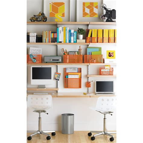 birch platinum elfa d 233 cor study wall the container store