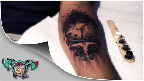 pyramid clock tattoo pyramid clock illuminati timelapse
