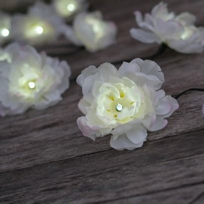 Solar Powered White Rose String Lights White Solar String Lights