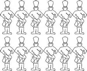 twelve drummers drumming coloring book 12 christmas