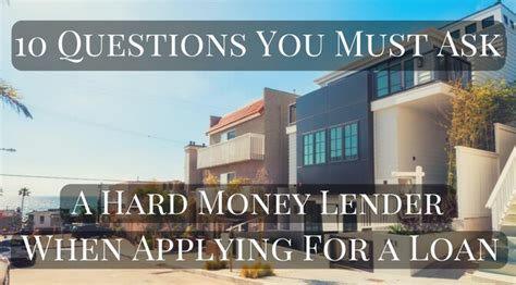 10 questions you must ask a money lender when applying for a loan coast financial inc