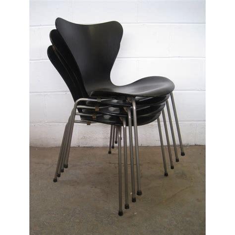 3107 Arne Jacobsen by Arne Jacobsen 3107 Chairs For Fritz Hansen Denmark
