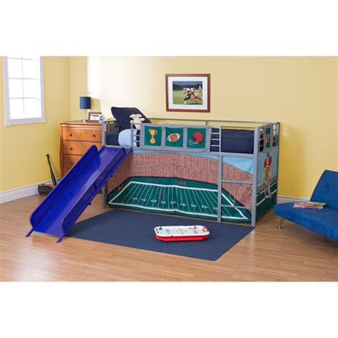 walmart boys beds boys football stadium twin loft bed with slide blue