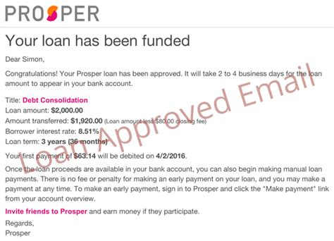 Money Loan Approval Letter Prosper Loan Review For Borrowers Is This Legit