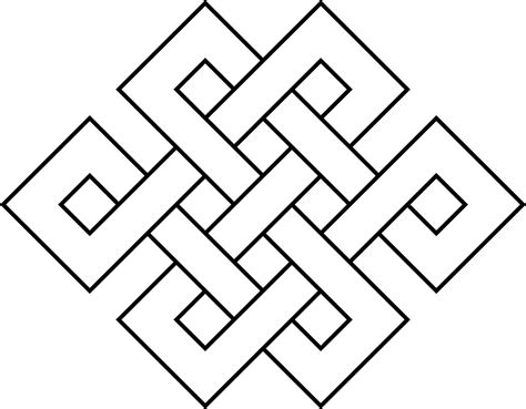 infinite designs coloring pages clipart coloring page endless knot