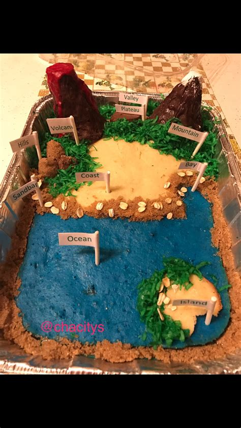 3d class geography 8468232394 edible landform project projects i ve completed social studies and