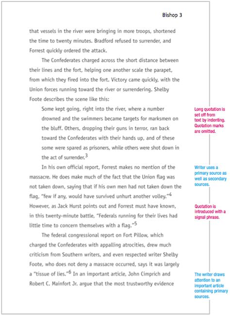 chicago style sample paper mla format
