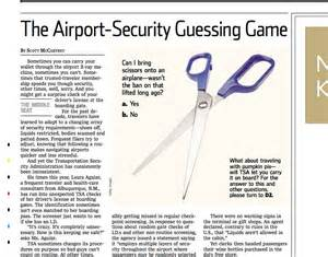Airport Security Essay by Flying 101 Airport Security Guessing Pat S Papers