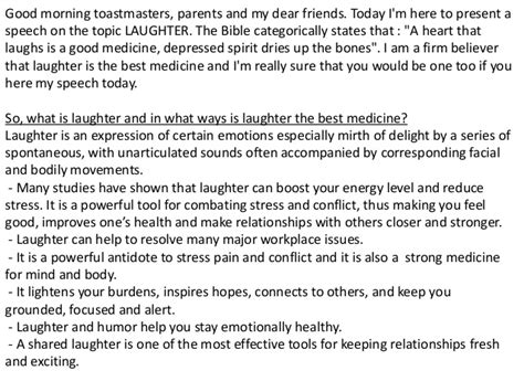 Laughter Is The Best Medicine Essay by Laughter Is The Best Medicine