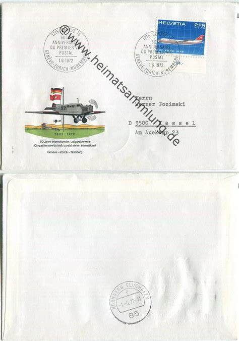 Brief Schweiz Luftpost Briefe Schweiz