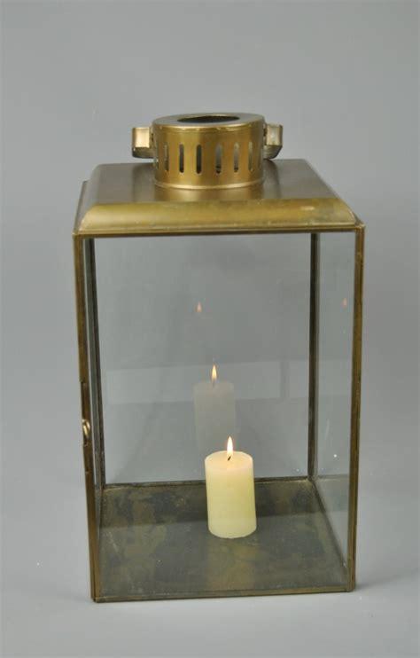 Large Glass Candle Lanterns Large Vintage Style Antique Gold Glass Tea Light