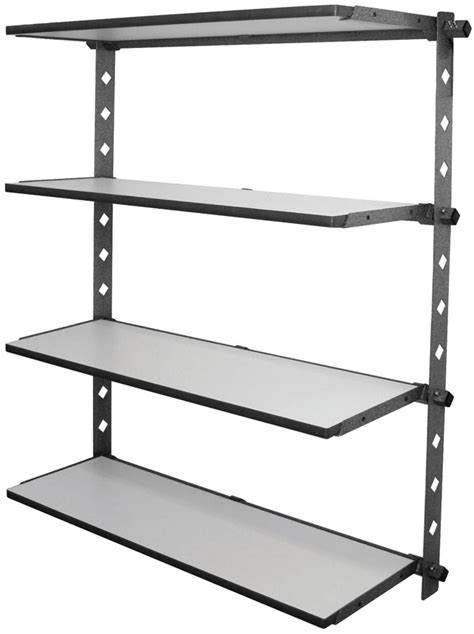 Garage Shelving Fixed To Wall Garage Storage And Organization Garage Shelving And