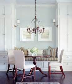 bench seating in dining room built in banquette transitional dining room