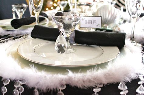 silver place settings black white silver holiday table celebrations at home