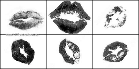kiss pattern photoshop free lips kiss brush photoshop photoshop free brushes