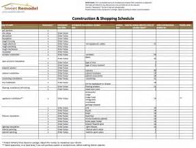 renovation project plan renovation work schedule template schedule template free