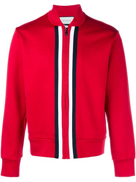 Jaket Gucci 2 gucci web trim track jacket in for lyst