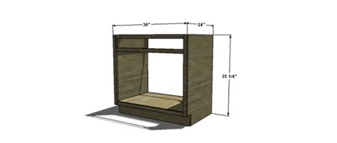 base cabinet for sink and dishwasher free woodworking plans to build an under sink base cabinet