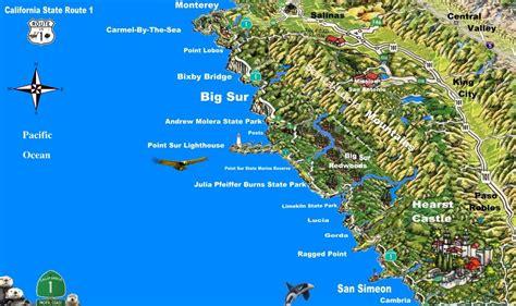 big sur map bigsur a scenic drive in northern america