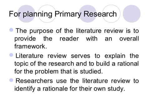 review of the literature exle for a research paper literature review and research related problems