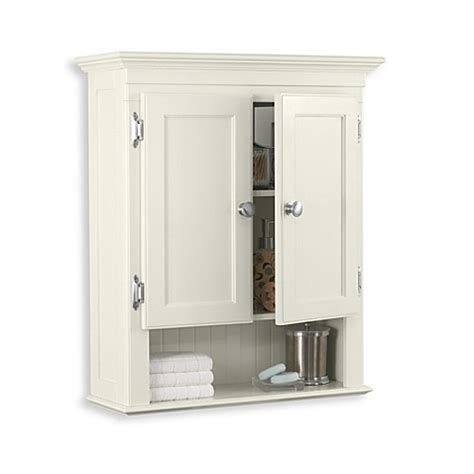 Bed Bath And Beyond Bathroom Cabinet Fairmont Wall Mounted Cabinet In Ivory Www Bedbathandbeyond