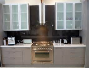 Frosted Glass Kitchen Cabinets Small And Narrow Kitchen Design With Wall Built In Cabinet