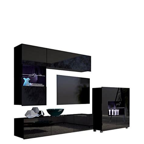 moderner wohnzimmerschrank mit glastüren und led beleuchtung wandregale f 252 r die k 252 che und andere wandregale