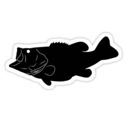 Striped Duvet Covers Quot Largemouth Bass Fish Silhouette Black Quot Stickers By
