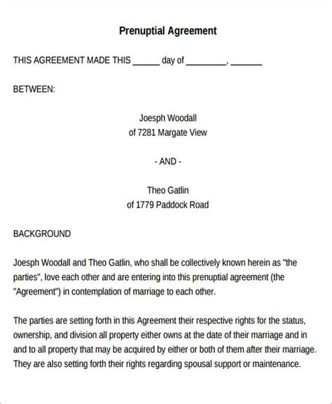 spousal support agreement template spousal support template images