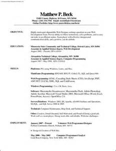 and resume template sle resume templates in