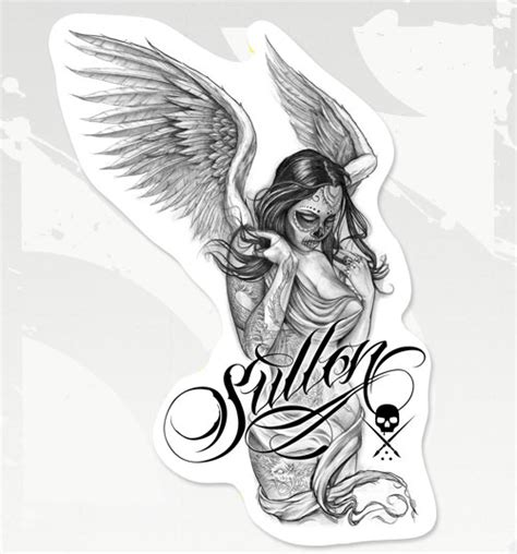 joker tattoo supply sullen pink lettering sticker joker supply