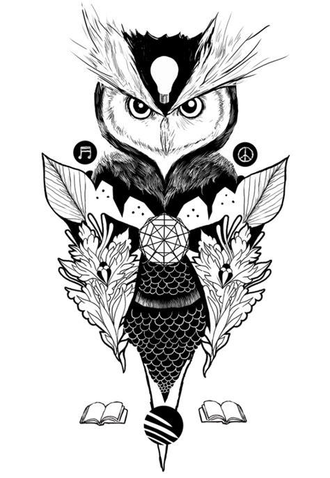 Owl Drawings Black And White Iphone Dan Semua Hp quot owl quot dan nguyen artwork on useum
